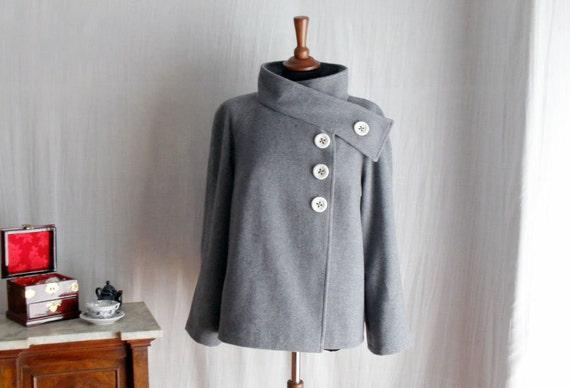 Grey wool coat - winter coat wool jacket womens jacket