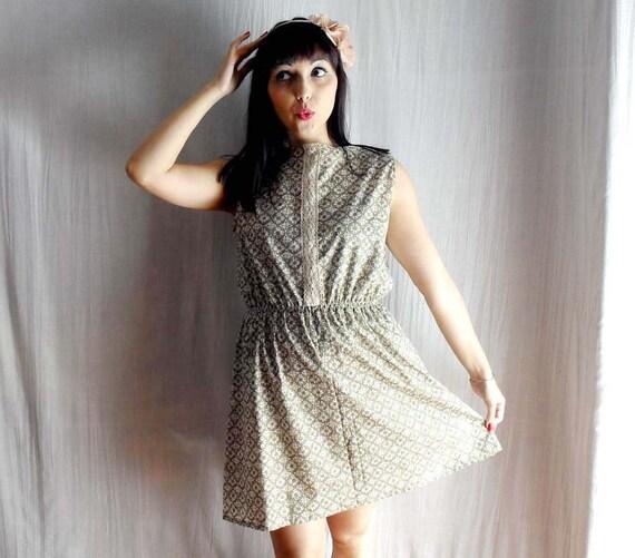 Cotton tunic dress with lace - tshirt tunic womens dress