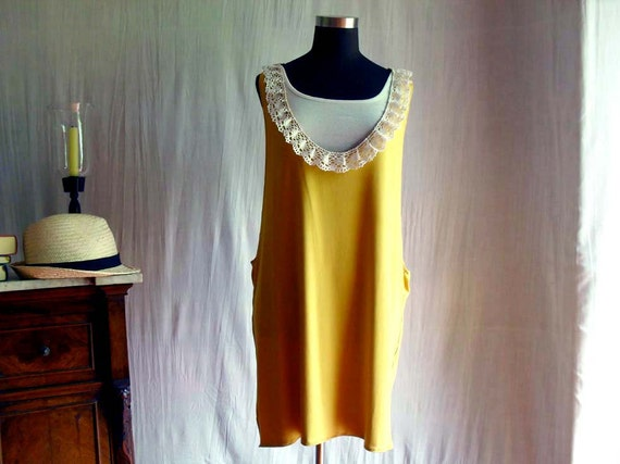 Mustard tank dress - tshirt dress halter dress in cotton jersey
