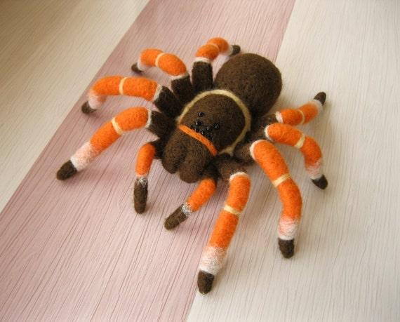 EXAMPLE WORK Tarantula Spider Needle felted Soft sculpture Wool figurine Handmade OOAK animal art doll