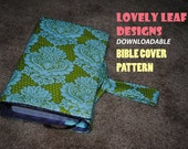 Bible Cover with Notepad and Pen Pockets Pattern (Instant Download)