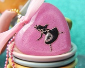 Run Little Alice with Pink Bow - Handmade Resin Necklace