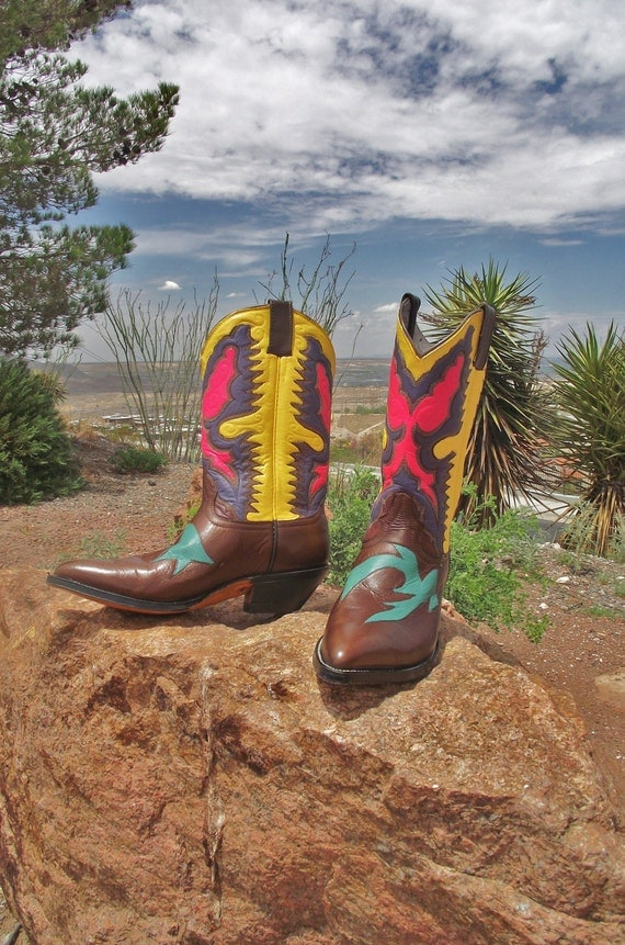 Multi-Color Bangin' Brown Cowboy Boots for Women