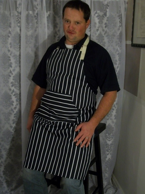 Classic Mens Apron with Oven Mitt
