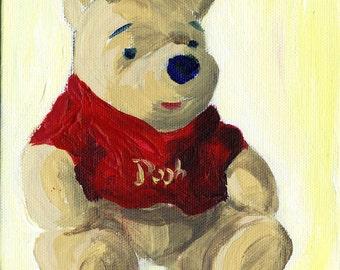 Toys - Teddy Bear: Oil Painting On Canvas by Snejana Videlova (not a print, but ORIGINAL)
