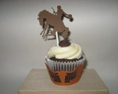 Little Buckaroo Cowboy Cupcake Wrappers & Toppers