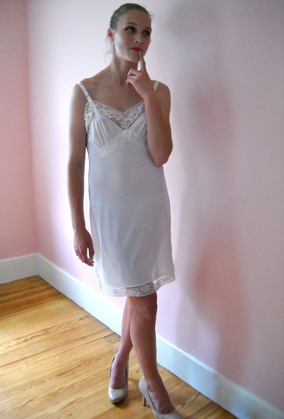 1960 S Vintage Top Form Lingerie Ivory Full Slip By