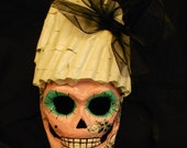 Handpainted and Handmade Day of the Dead (Dia de los Muertos) Mask