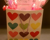 Colorful Hearts  All Natural Artisan Organic Pet Treats Gift Basket by Faux fur Pet and Couture Treats