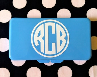 Monogram Travel Baby Wipes Case