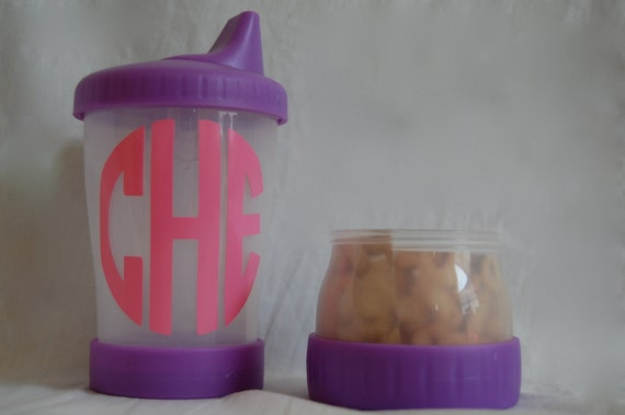 Monogram Personalized Sippy Snack Cup