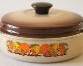 Vintage Merry Mushroom Pan 1970's Enamel Cookware Fry Pan