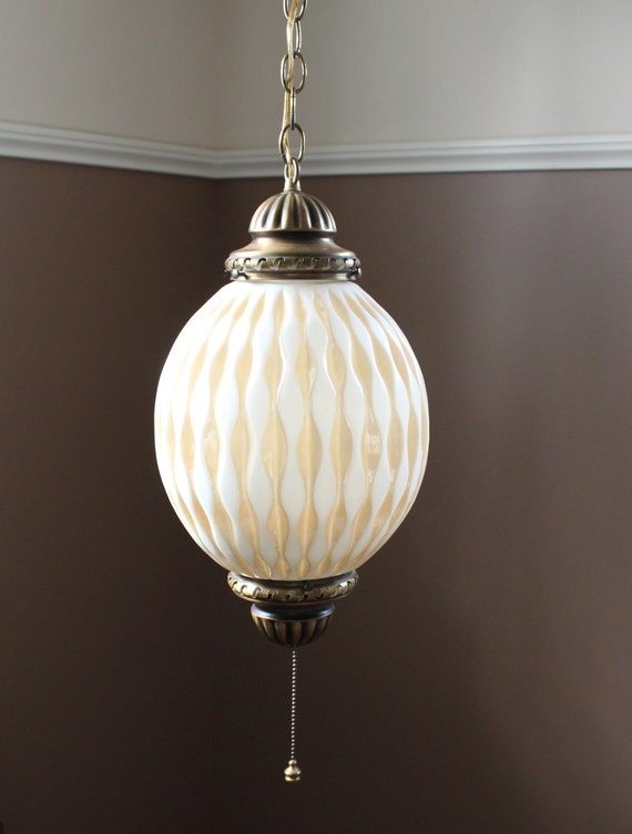 Vintage swag lamp hanging globe light pendant boho retro