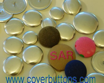 100 #60 Cover Buttons Made in the US Aluminum