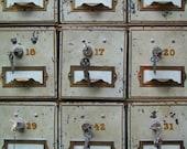 "Fine Art Photography ""Safe Deposit Boxes""  Vintage Photo, Metallic Print, Bank Boxes, Customizable Sized Prints"