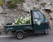 """Italy Photography, """"Truck Full of Lilies"""", Travel Photography, Automobile Picture, Positano Photo, Customizable Print Sizes, Wall Art"""