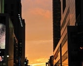 """New York City Photography, """"Sunset in the NYC Streets"""", Travel Photography, Sunset Picture, Romantic, Customizable Print Sizes"""