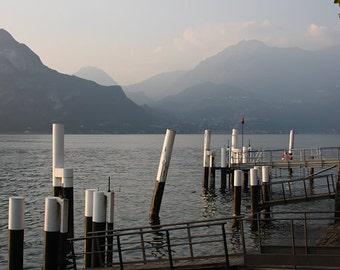 "Italy Photography, ""Lake Como"", Travel Photography, Landscape Photo, Fine Art Wall Decor, Metallic Finish Print, Customizable Print Sizes"