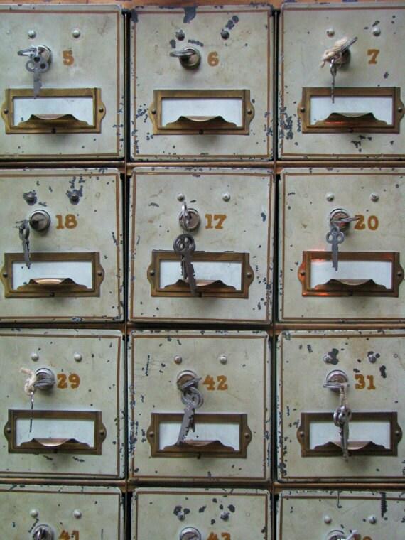 "Fine Art Photography ""Safe Deposit Boxes""  Vintage Photo, Still Life Print, Bank Boxes, Customizable Sized Prints"