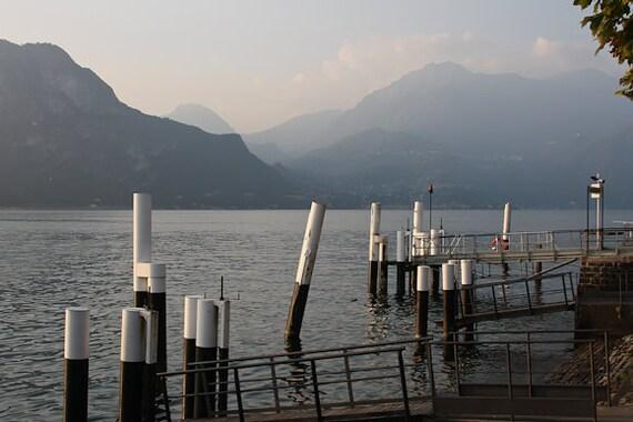 "Italy Photography, ""Lake Como"", Travel Photography, Landscape Photo, Fine Art Metallic Print, Customizable Print Sizes"
