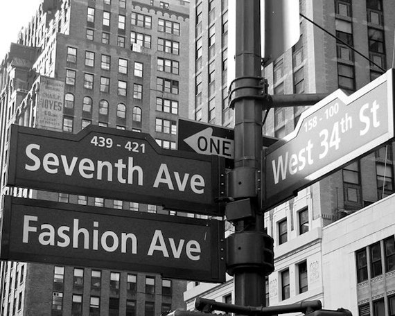 A Woman's Heaven - NYC Fashion photo 8x10 - fine art photography print - NYC street scene of Fashion Avenue and West 34th