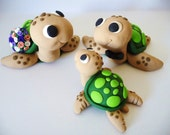 Sea Turtle Family Wedding Cake Topper - Choose Your Colors