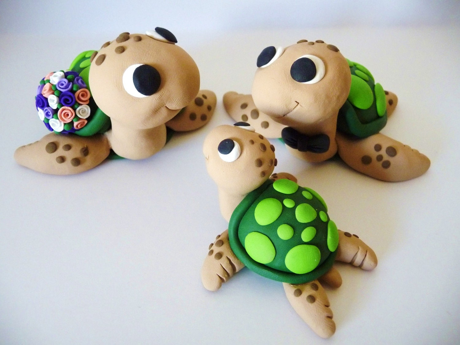 turtle wedding cake toppers sea turtle family wedding cake topper choose your colors 21320