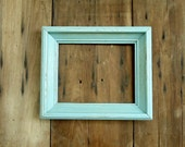 Vintage Picture Frame Wood Wooden Photo Old Empty Blue Turquoise Aqua Rustic Chippy Shabby Cottage Chic Beach Romantic Upcycled