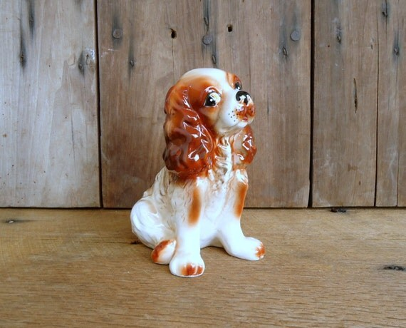 Vintage Dog Figurine Knick Knack Cocker Spaniel Japan Home Decor Collectible Nursery Child Mid Century