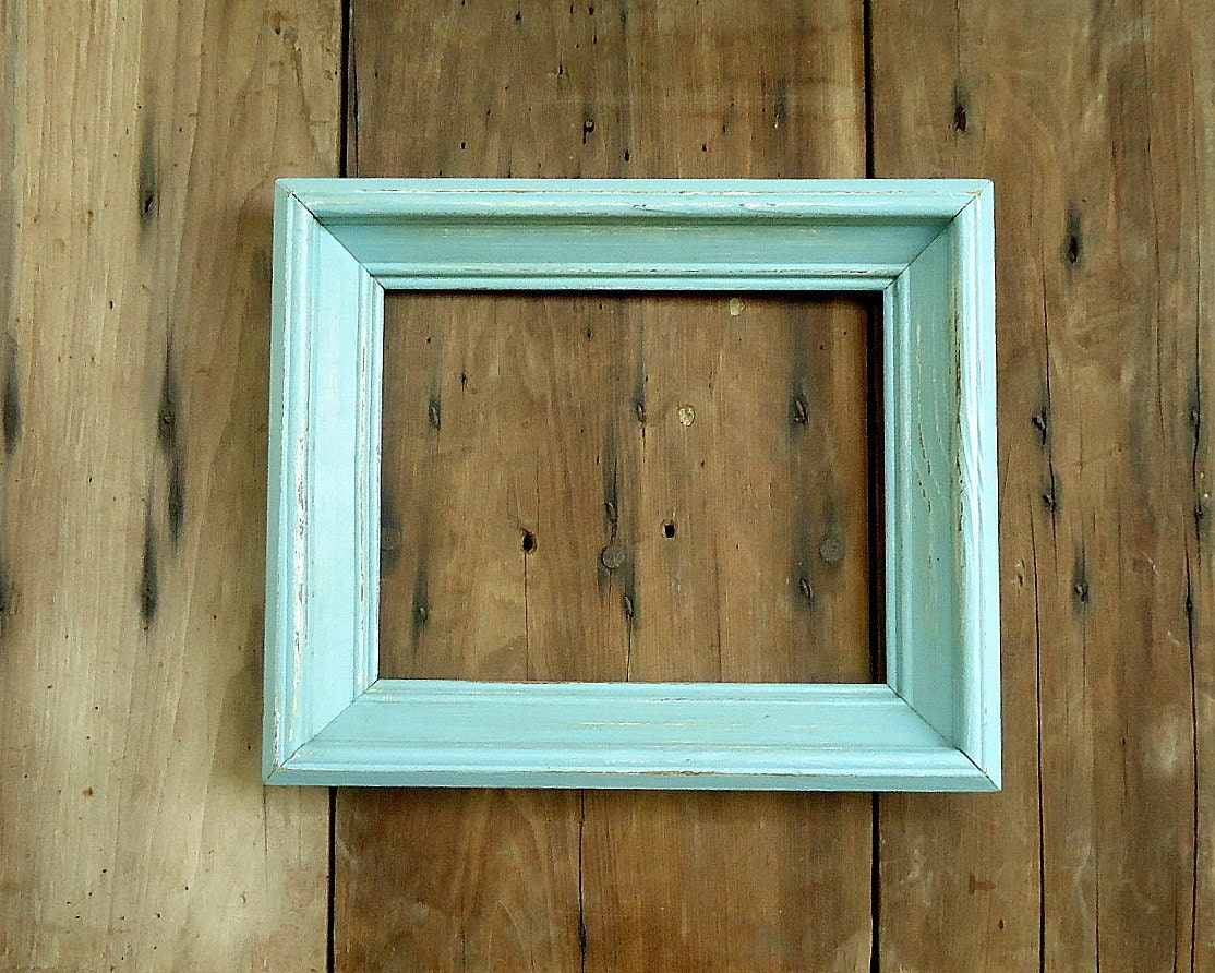 Vintage Picture Frame Wood Wooden Photo Old Empty Blue