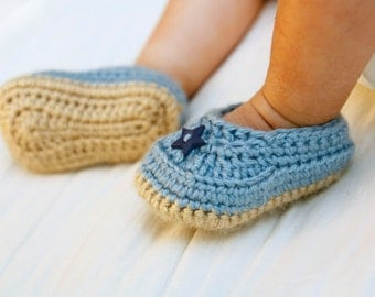 Accent Button Baby Loafer