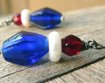 4th of July red, white and blue hostess gift under 20 made in the USA