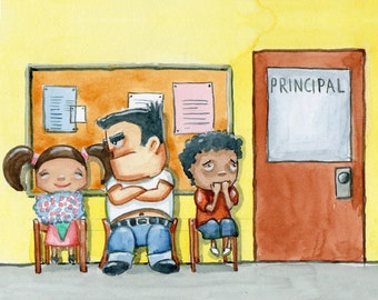 Principal's Office - 8x10 Illustration Print