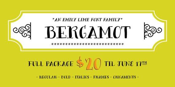 Bergamot Font Family - NEW Release