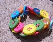 Bright, Fun, Summery Button Bracelet