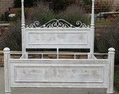 King Bed Vintage White Washed and Distressed By Foo Foo La La (Los Angeles)