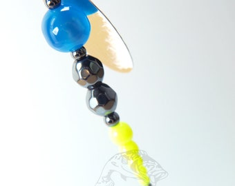Blue, Black, and Yellow Fishing Lure