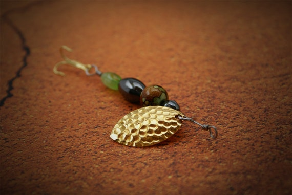 Green and Brown fishing lure