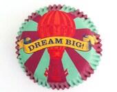 50 Vintage Circus Print Cupcake Liners Carnival Baking Cups