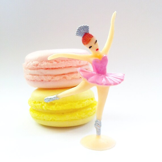 12 Pink Ballerina Cupcake Toppers Sweet Ballerina Cake Toppers