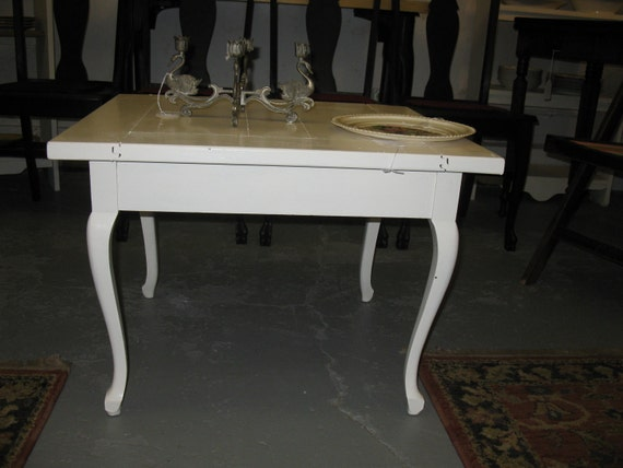 White Cottage Style Wood Coffee Table With By DueslerStudios