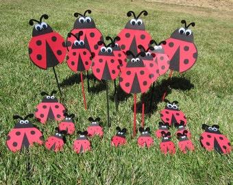 Ladybug Birthday Party Kit 24 pieces