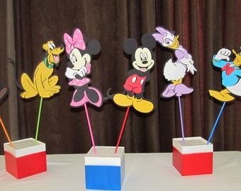 Mickey Mouse Clubhouse Party Centerpiece Character LARGE 10 inch Picks Party Kit 6 pieces