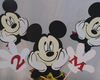 Mickey Mouse Party LARGE Centerpiece Picks 5 piece