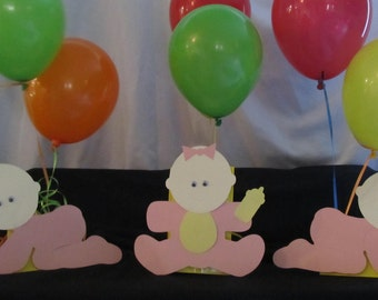 Baby Girl Shower Centerpiece