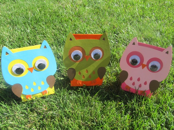 Owl Birthday Party Goody Bags 10 count
