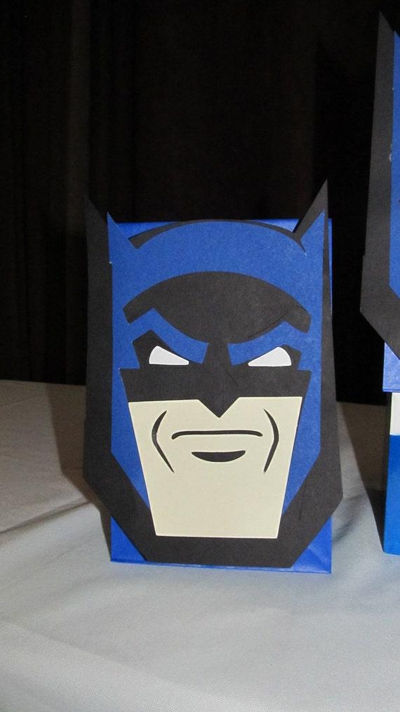 Super Hero Batman Goody Bags LARGE character 10 count
