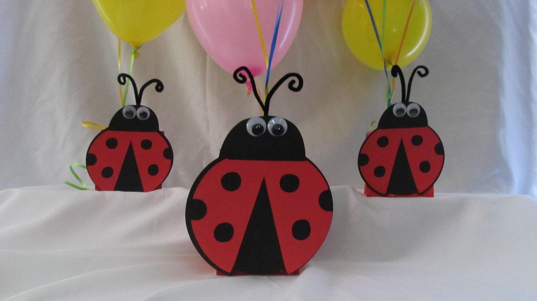 Ladybug party centerpiece