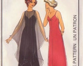 1970s Vintage Style Evening Gown Sewing Pattern-Size 10