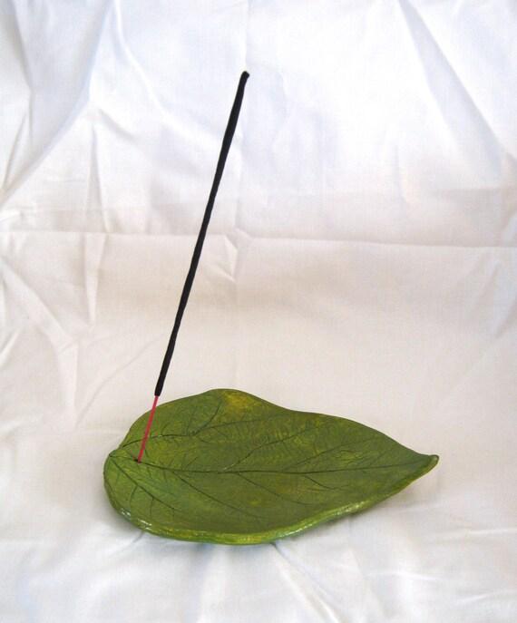 Large leaf incense burner, candle holder, hanging decoration